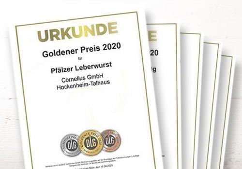 TRAUMHAFT - 12 x GOLD für CORNELIUS bei der DLG Prämierung 2020